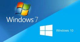 Bagaimana Windows 7 dapat diubah pada Windows 10 dan instruksi instalasi