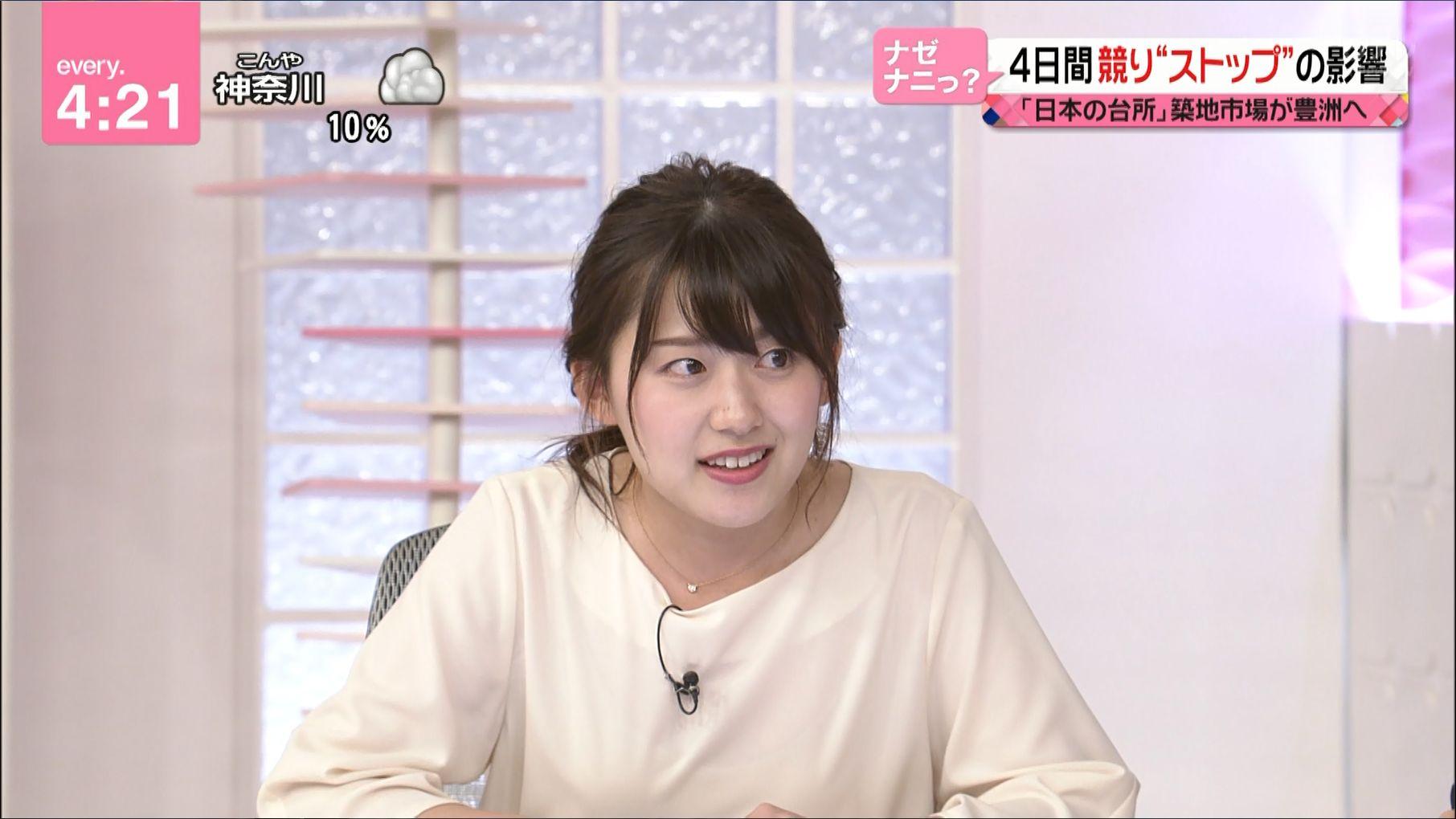 ニュース番組の尾崎里紗アナ