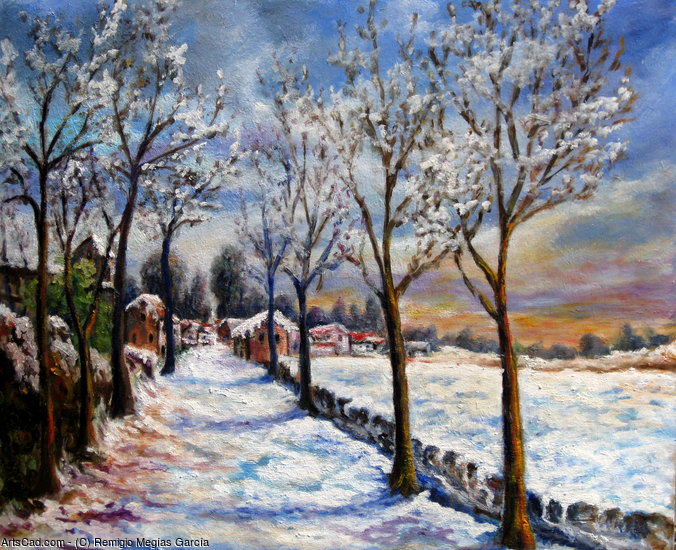 Opere Darte  Remigio Megas Garca  Paesaggio invernale
