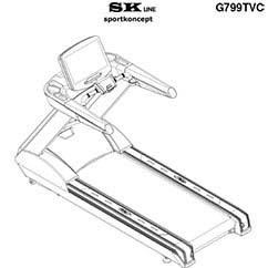 SK7990 Tapis roulant professionale