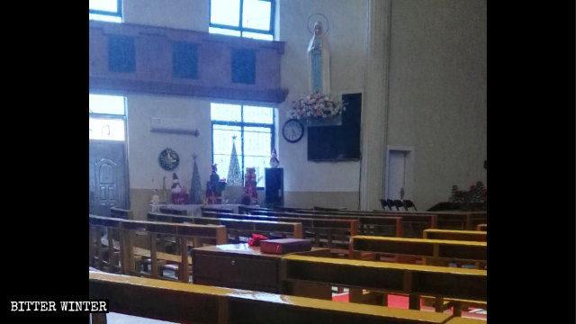 La chiesa cattolica di Saiqi prima della chiusura