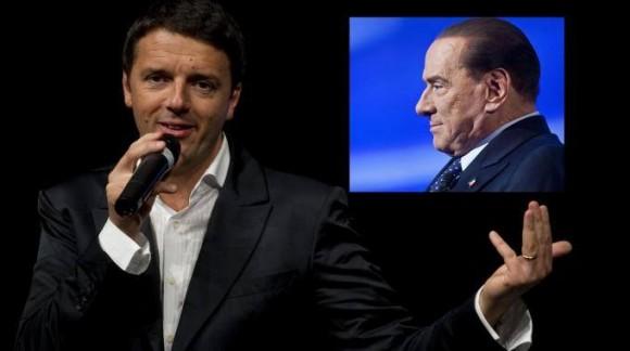 Matteo Renzi e Silvio Berlusconi. Foto ANSA