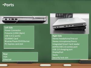 HP 8460p Ports | Information Technology