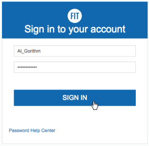 MyFIT Sign In Page with Cursor on Button