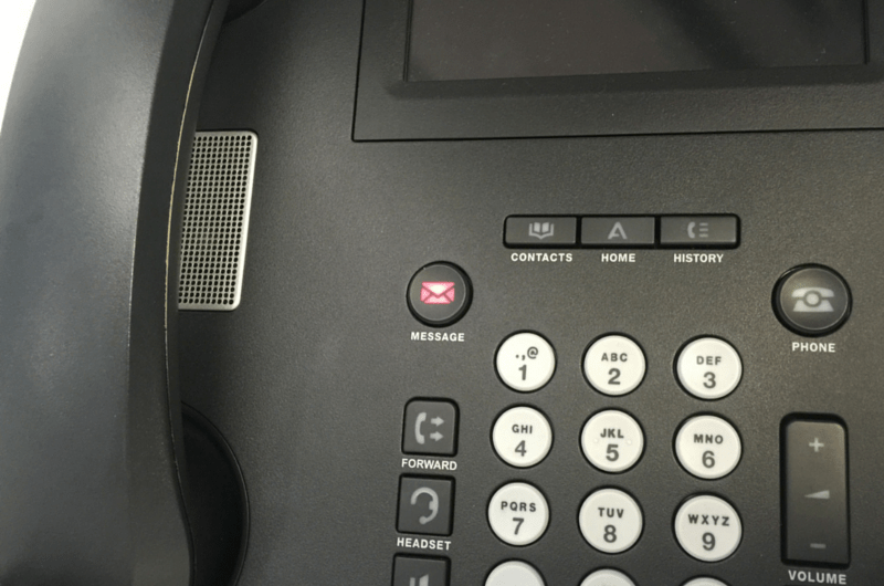 Office Phone with Message Light On
