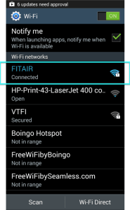 Android Connected to FITAIR