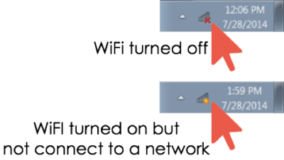 Example of WiFi Turned off and Turned on