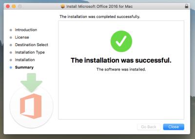 Office 365 Installation Window