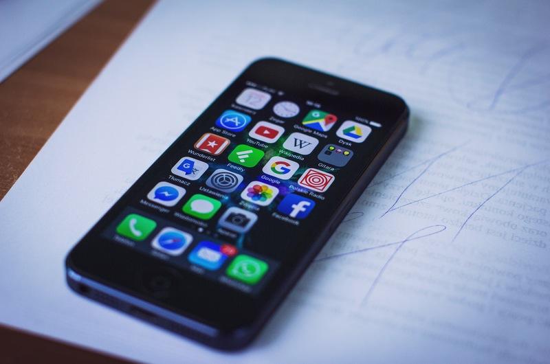 iPhone App Screen Sitting on Homework