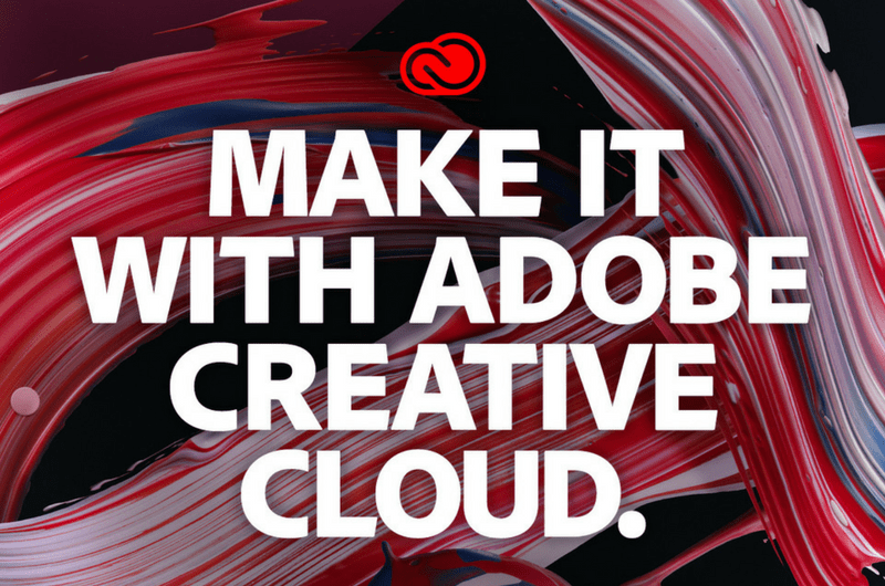 Swirled Paint art with text -Make it with Adobe Creative Cloud.-