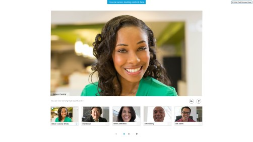 Cisco Video Conference Webpage