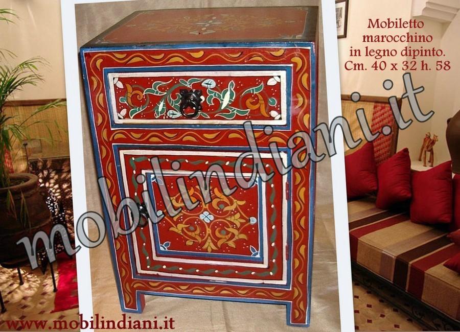 Foto Comodino Marocchino Dipinto di Mobili Etnici 146006  Habitissimo