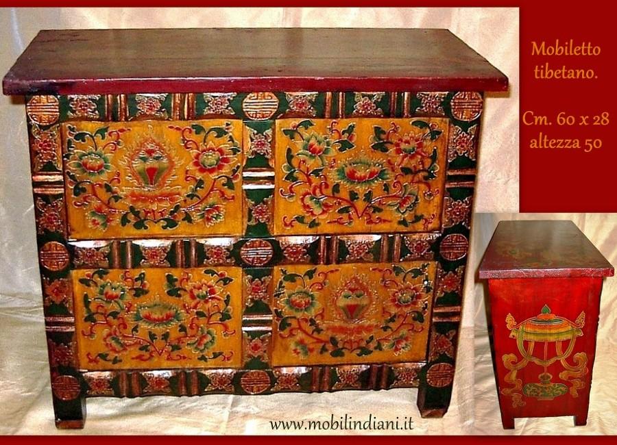 Foto Piccolo Mobile Tibetano Dipinto di Mobili Etnici 113663  Habitissimo