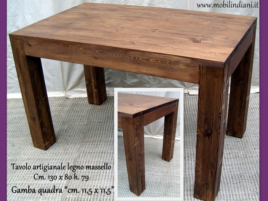 Foto Tavolo da Cucina Legno Massello di Mobili Etnici 114043  Habitissimo