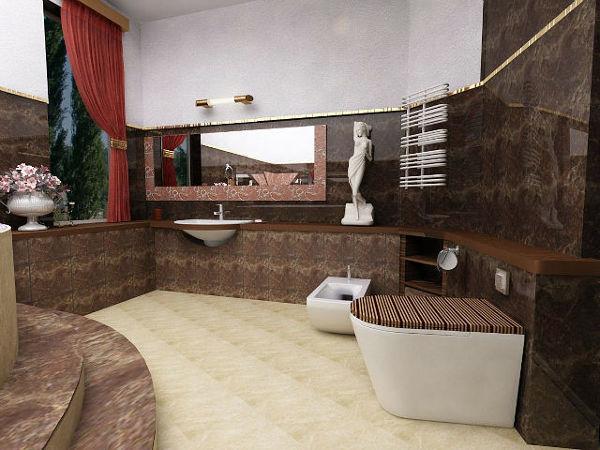 Foto Bagno In Marmo Scuro e Legno di Style House Ristrutturazioni 74307  Habitissimo