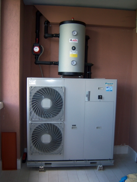 Foto Impianto Idronico Daikin a Pompa di Calore di Rb