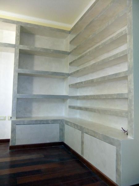 Foto Libreria porta Cd Angolare In Cartongesso con Sportelli In Legno di Nova Fatm Srl 103234