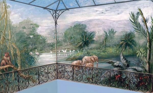Foto Ruffini Decorazioni Paesaggio Esotico Per Piscina