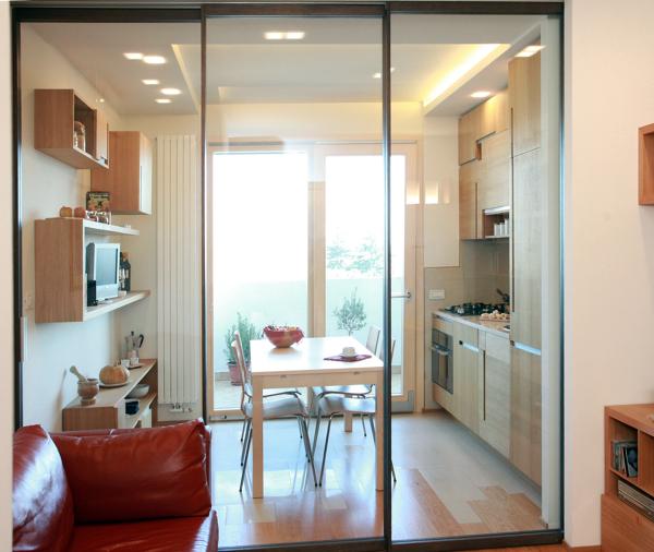 Foto Piccolo Appartamento Cucinapranzo Versus Soggiorno di Studio Di Architettura Acrivoulis
