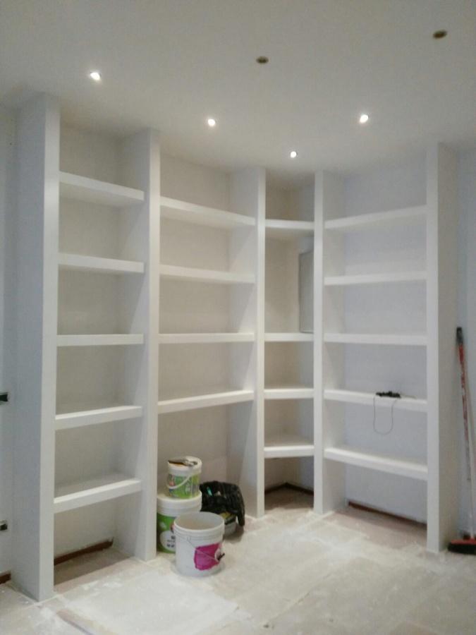 Libreria In Cartongesso  Idee Ristrutturazione Casa