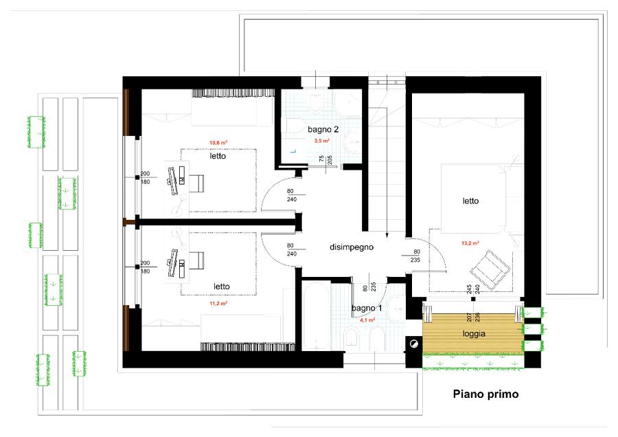 Foto Progetto di Casa Unifamiliare Compatta140 Mq Di SUL a Basso Consumo Energetico