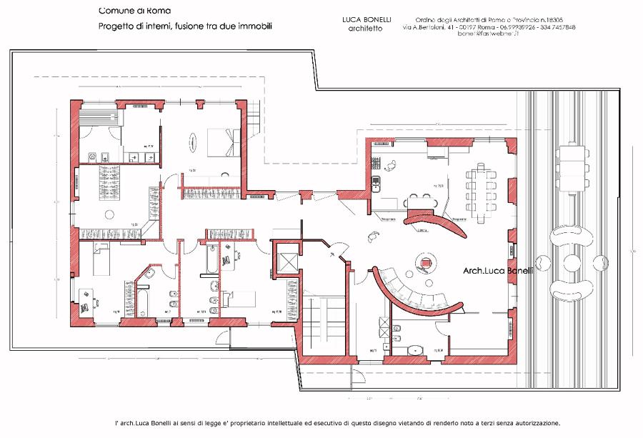 Foto Progetto Di Interni  Fusione Di Due Appartamenti Di