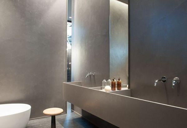 Foto Bagno Pareti In Cemento Resina Spatolato finitura Satinata di Pitture  Restauri 363300