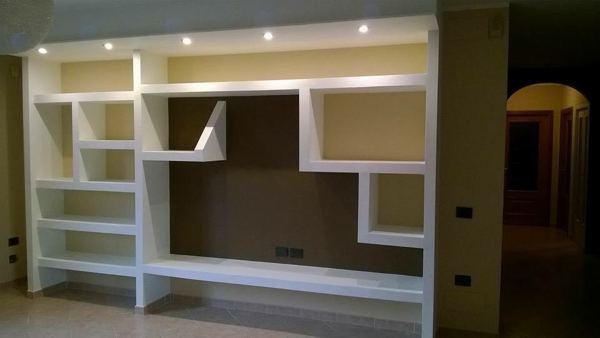 Visualizza altre idee su arredamento, parete attrezzata, arredamento soggiorno. Foto Parete Soggiorno In Cartongesso Di Idea Interiors 601417 Habitissimo
