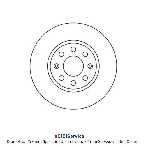 Kit 2 Dischi Freno Autoventilati + Pastiglie Anteriori