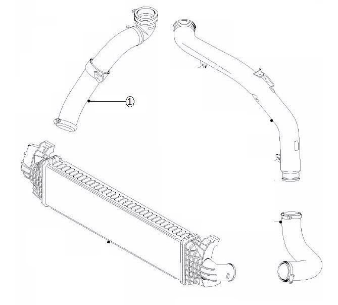 1496240 Manicotto Turbo Intercooler Originale Ford Focus