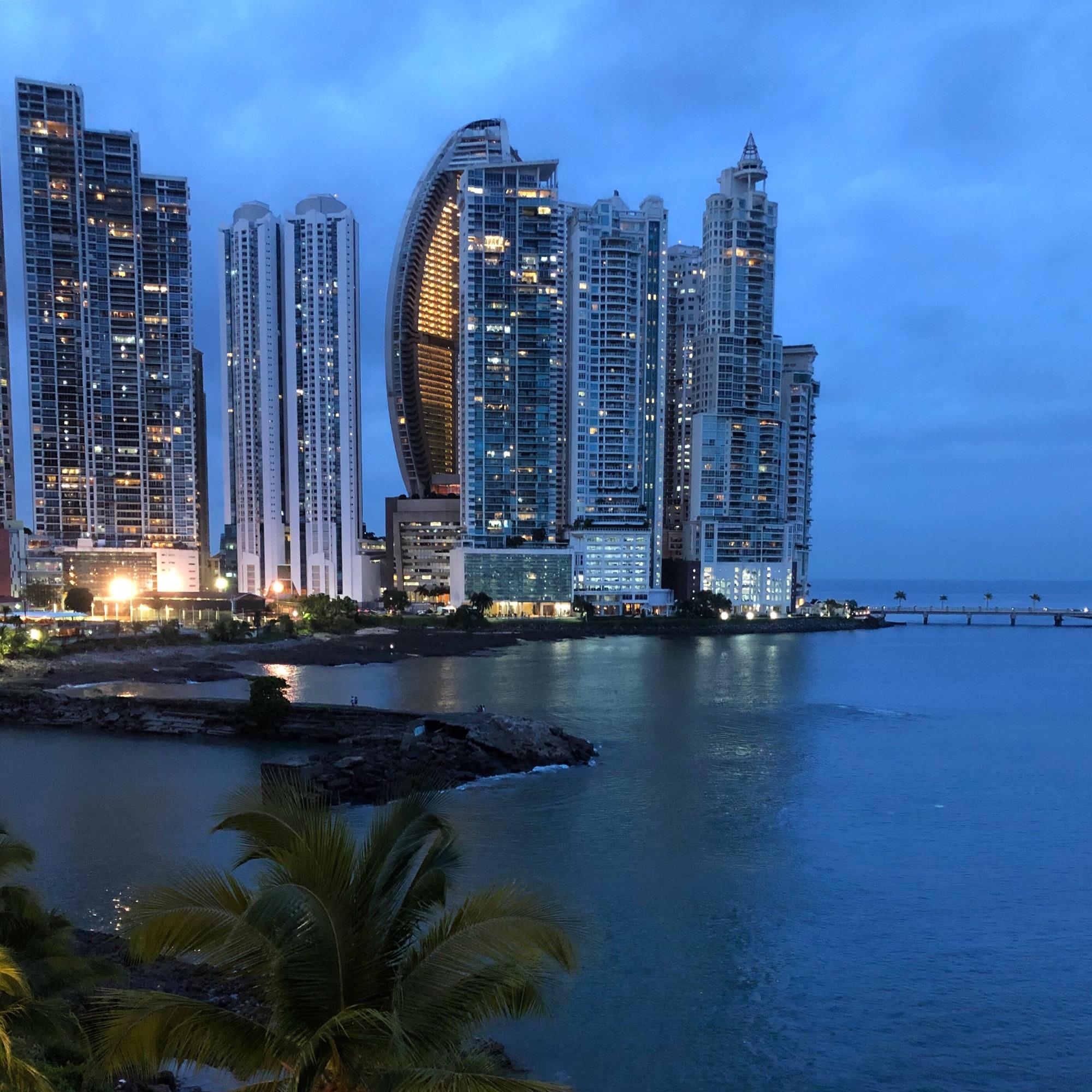 Panama City Skyline at dusk