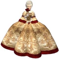 Rokoko stiliaus suknelė
