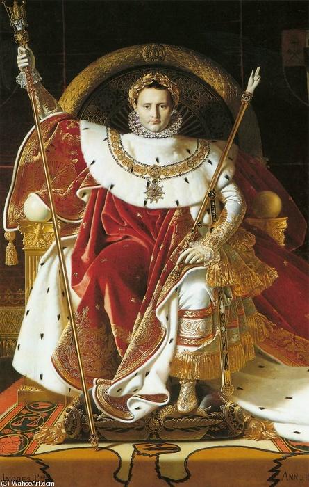 Napoleone sul trono imperiale Jean Auguste Dominique Ingres