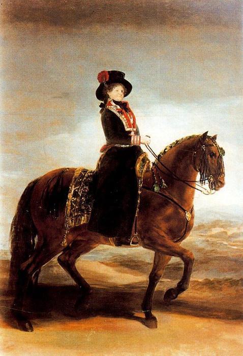 Regina Maria Luisa a cavallo di Francisco De Goya 1746