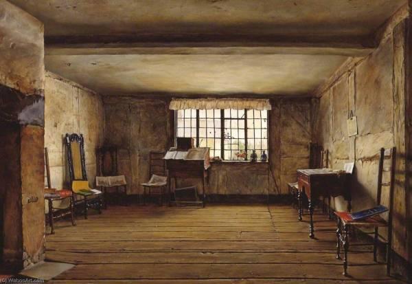Il Camera In Cui Shakespeare Sono Nato 1853 Di Henry Wallis 1830-1916 Riproduzioni