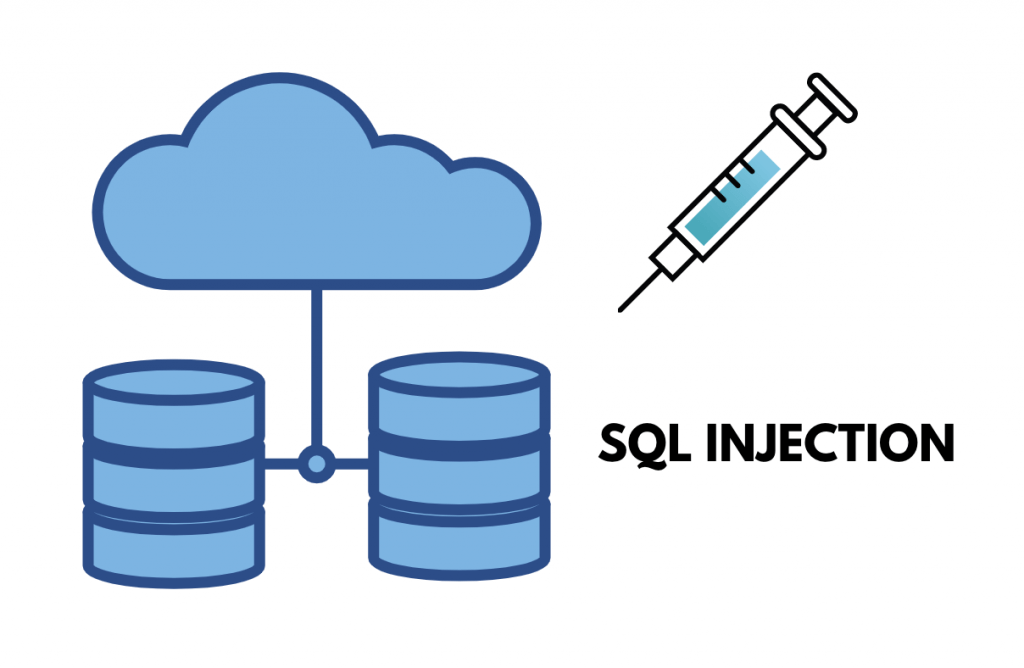 Illustration of databases and an injection