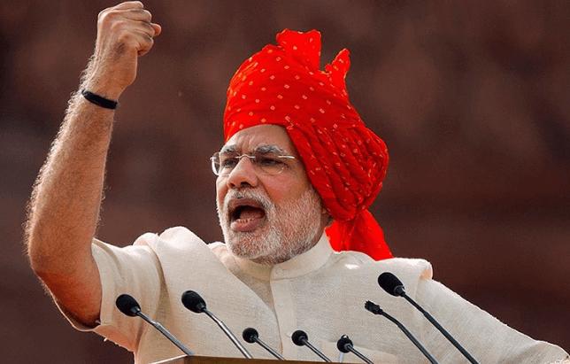 PM Modi in Lal Kila