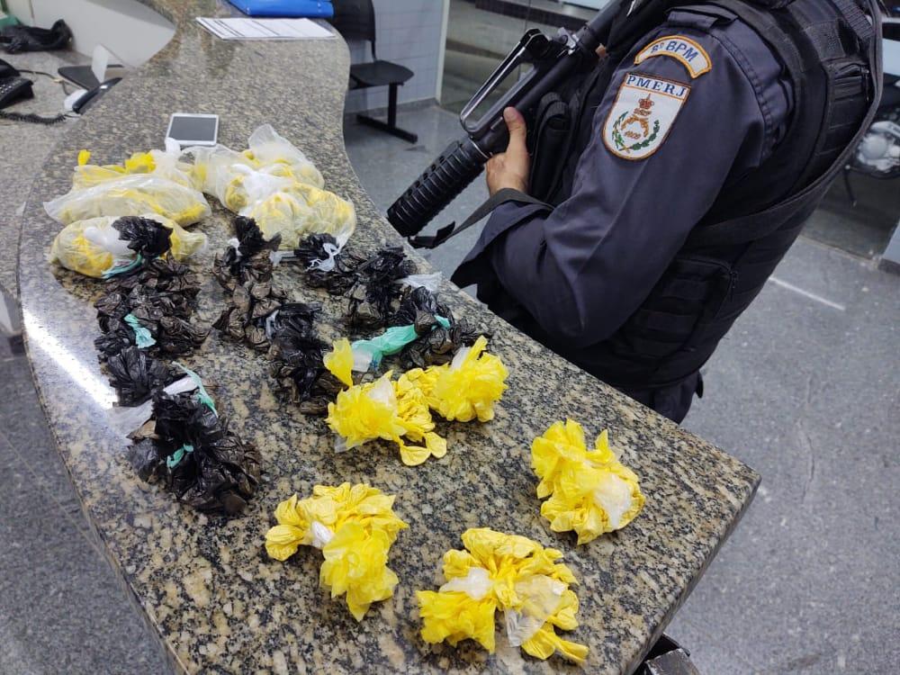 Polícia Militar apreende drogas em SFI neste final de semana