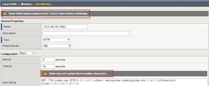 F5 - http monitor newline character error - ITAdminGuide com
