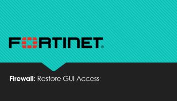 Fortinet Firewall Management Interface Access Over WAN