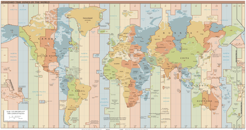 Fusi orari del mondo. Tratto da: https://commons.wikimedia.org/wiki/File:Standard_World_Time_Zones.png