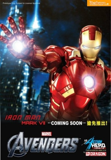 Dragon: The Avengers - Iron Man Mark VII 1/9 Statue - Anteprima
