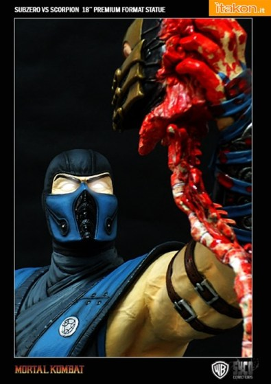 Sub Zero Vs Scorpion 18'' Premium Format Statue da Syco Collectibles in Preordine