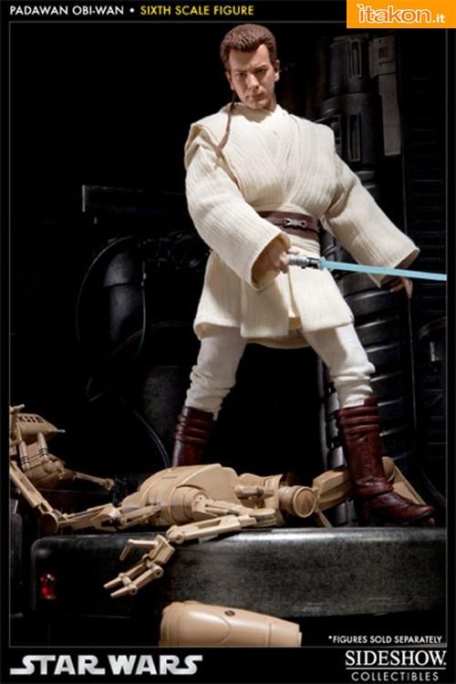 Padawan Obi-Wan 1/6 scale figure da Sideshow - Immagini Ufficiali e Info Preordini
