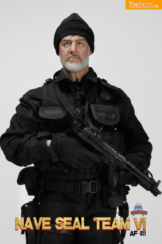 The Rock: L'action doll di John Patrick Mason(Sean Connery) dalla Art Figures