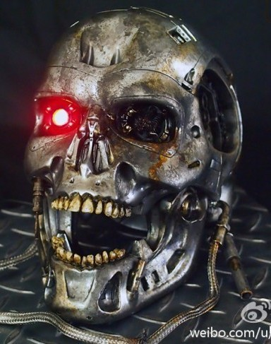 T-800 Endoskeleton Head Battle Damaged 1/1 di T-Studio - Anteprima