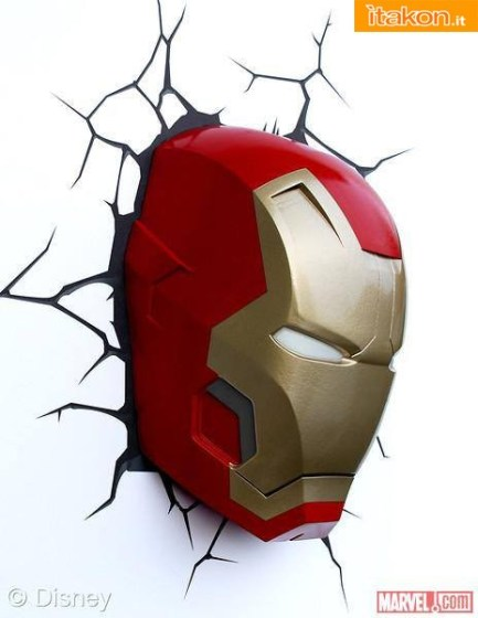Iron Man Mark 42 Mask 3D Deco Night Light (3)