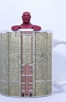 colossal titan mug set - shingeki no kyojin ante