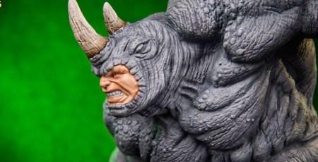 rhino - art statue - iron studios - pre - 2