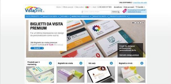 Vistaprint: miglior sito biglietti da visita